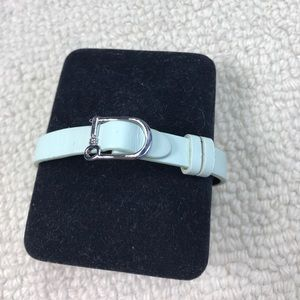 Keep Collective Single Leather Band Mint/Steel